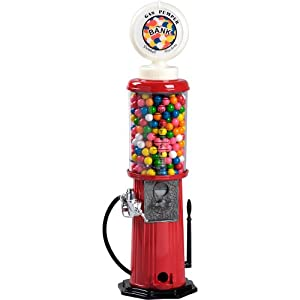 "Carousel Gas Pump Gumball Machine, 21"" Tall"