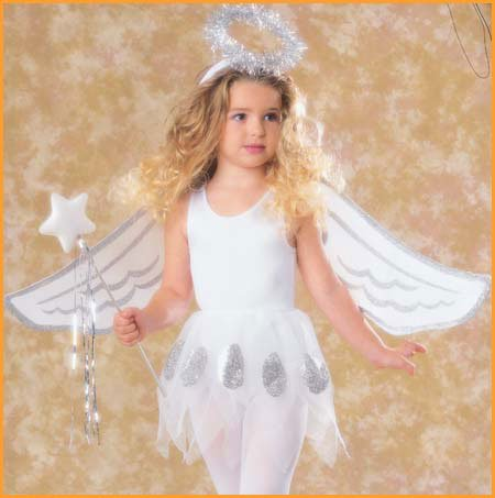 Halloween Holiday Heavenly Angel Set Costume Dress Up Trick Or Treat Celebrate