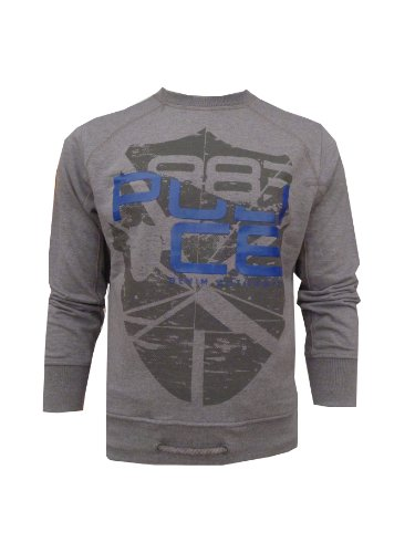 Mens 883 Police Colorado Marl Grey Sweatshirt (L/4 - 40