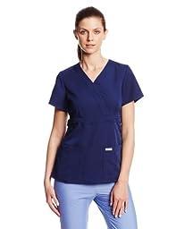 Grey\'s Anatomy 4153 3 Pocket Mock Wrap (M, Indigo)
