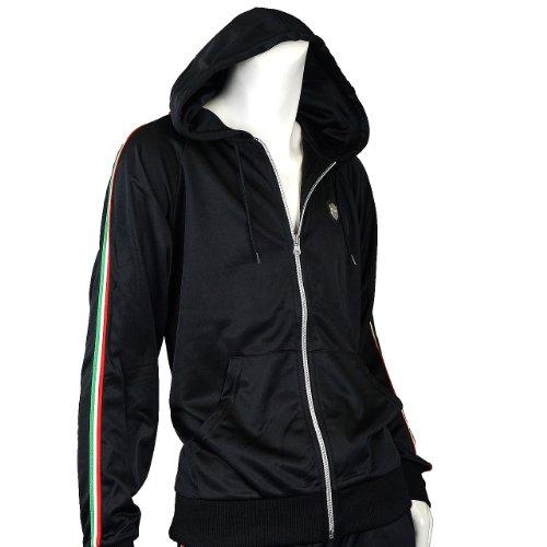 (フリースタイルウェア) freestyle-wearメンズジャージ上下セットアップ黒スウェットパーカー23403 L イタリアン