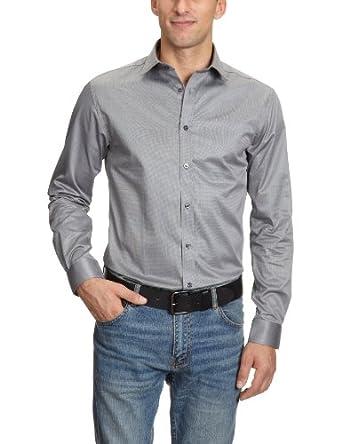 JACK & JONES PREMIUM Herren Hemd mit Manschetten Slim Fit 12020857 Andrew Shirt L/S Tight Fit, Gr. 48 (S), Grau (GREY.)