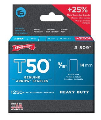 Arrow Fastener Inc 50924 Staples For T50 Series Staple Guns - (Pack Of 4)