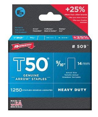 Arrow Fastener Inc 50924 Staples For T50 Series Staple Guns - (Pack Of 4)