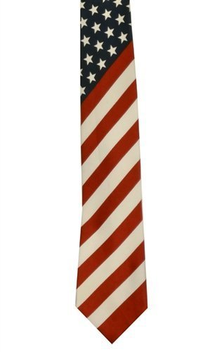 Beautiful American Flag Necktie