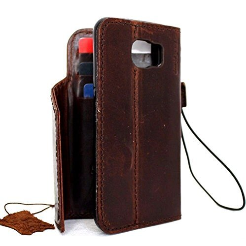 Genuine Italian Leather Case for Samsung Galaxy S6 Book Wallet Luxury Magnet Cover S Handmade S 6 (Italian Leather Cell Phone Case compare prices)