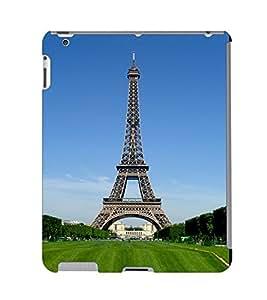Fuson 3D Printed Eiffel Tower Wallpaper Designer Back Case Cover for Apple iPad 3 - D832