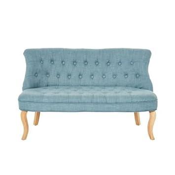 Kasandria® Sofa Eduard Blau | Couch ähnlich der Farbe Petrol | Kleine Schlafcouch