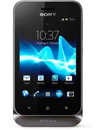 Sony Xperia Tipo Dual Smartphone (8,1 cm (3,2 Zoll) Touchscreen, 3,2 Megapixel Kamera, Dual-SIM, Android 4.0) schwarz