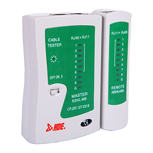 HDE Network Cable Tester for Lan Phone RJ45 RJ11 RJ12 Cat5 Cat6 UTP Wire Test Tool