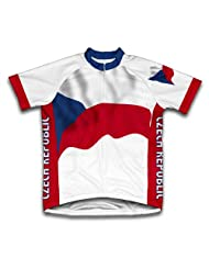 Czech Flag Short Sleeve Cycling Jersey for Women