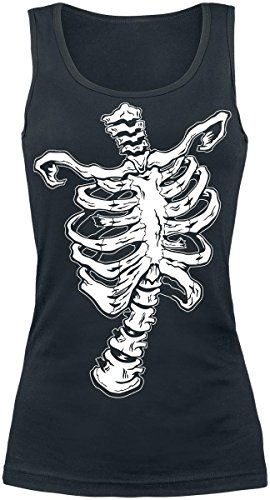 Skeletto Top donna nero S