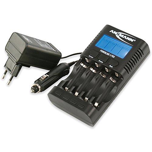 ANSMANN Powerline 4 Pro Chargeur pour 1 à 4piles rechargeables Mignon AA, Micro AAA 1001-0005