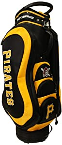 MLB Pittsburgh Pirates Medalist Cart Golf Bag, Black by Team Golf