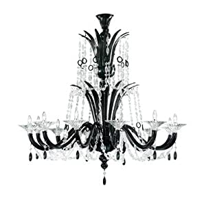 6009 Chandelier Shade / Dropper Colour: Black / Clear Glass :: Top Deals