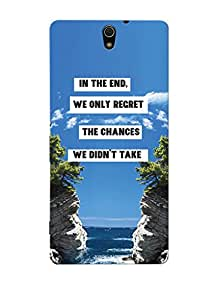 Sowing Happiness Printed Back Cover For Sony Xperia C5 Dual