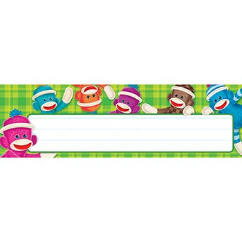 Sock Monkeys Desk Toppers Name Plates - 1