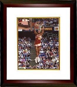 Spud Webb Autographed Hand Signed Atlanta Hawks 8x10 Photo Custom Framed (1986 Slam... by Hall of Fame Memorabilia
