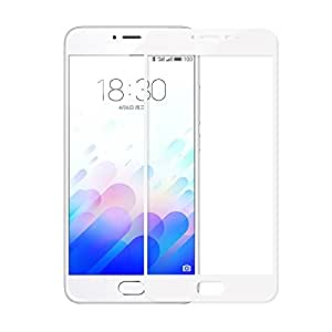Plus 3D Curved Edge CP+ MAX Full coverage Anti-explosion Tempered Glass Screen Protector for Meizu m3 note - White