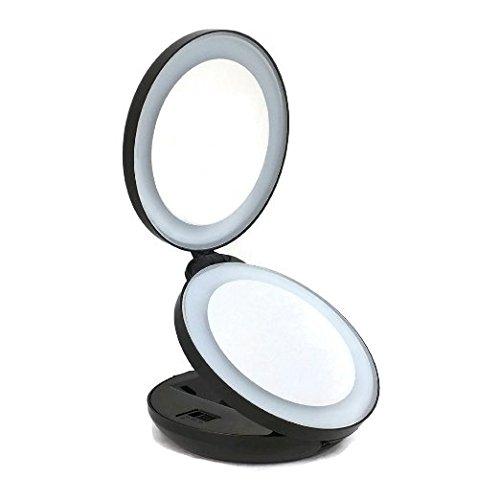 Neuf alierkin miroir de maquillage pliable miroir for Miroir avec lumiere