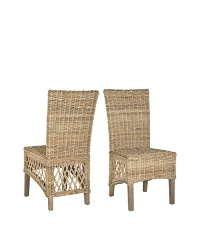 Safavieh Set of 2 Sumatra Side Chairs, Natural