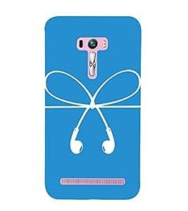 HEADPHONES AND A BOW DESIGN PICTURE 3D Hard Polycarbonate Designer Back Case Cover for Asus Zenfone Selfie :: Asus Zenfone Selfie ZD551KL