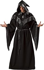 InCharacter Costumes, LLC Dark Sorcerer Full Length Robe, Black, X-Large