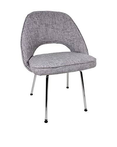 Control Brand Johnson Side Chair, Grey/Chrome
