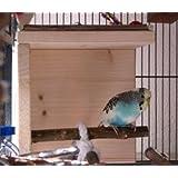 Schlafhaus mit Naturholz Sitzstange für Wellensittich, Nymphensittich & Co. - Tolles Vogelzubehör für die Voliere
