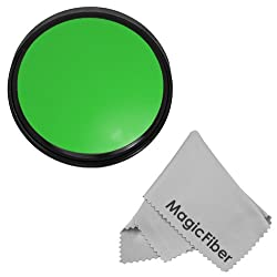 58MM Goja Full Green Color Filter (for Camera Lens with 58MM Filter Thread) + Premium MagicFiber Microfiber Cleaning Cloth