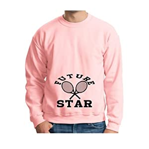 Buy cute tennis gifts - Xi Future Tennis Star Crewneck (not Maternity Sized) Funny Sports Athletic Cute Pregnant Baby Shower Gift Expecting Mother Mommy Crewneck Sweatshirt 3xl Lt Pink Lt.pink