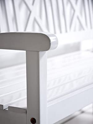 Gartenbank weiß AALBORG Sitzbank Holz 118cm 2-Sitzer Bank von Sedex auf Gartenmöbel von Du und Dein Garten