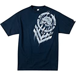Metal Mulisha Wind Tunnel Men's Short-Sleeve Sportswear T-Shirt/Tee - Navy