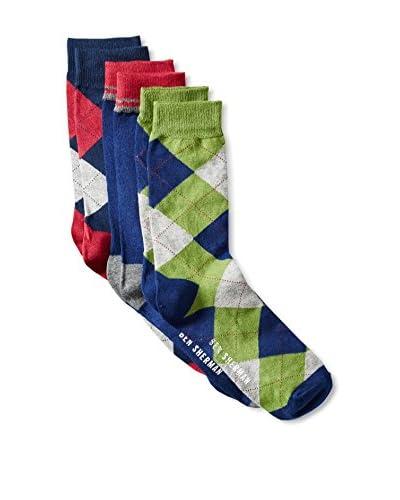 Ben Sherman Men's Richard - 3 Pack Socks, Navy Combo, One Size