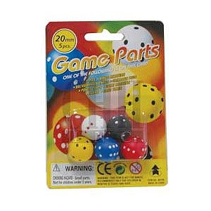 Round Dice in Blister Pack (5 Piece)