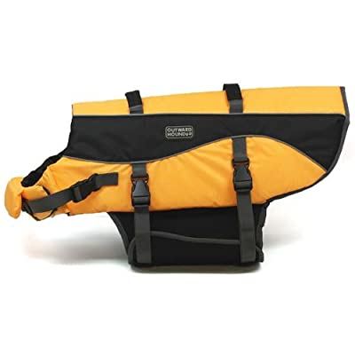 Kyjen Outward Hound Designer Pet Saver Life Jacket, Orange