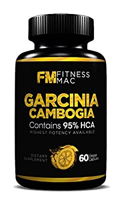 Pure Garcinia Cambogia Extract with 95% HCA - Appetite Suppressant and Weight Loss Supplement, Made in the USA, FDA Approved Facility, 60 Capsules - 1,400mg Per Serving