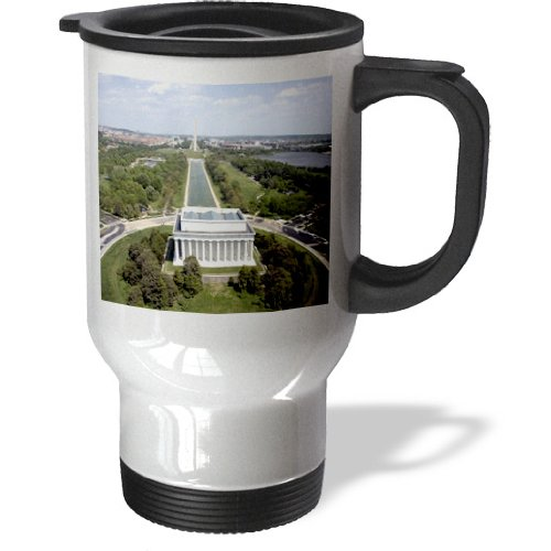 Tm_55351_1 Sandy Mertens Washington, Dc - Aerial View Of The Lincoln Memorial - Travel Mug - 14Oz Stainless Steel Travel Mug back-388407