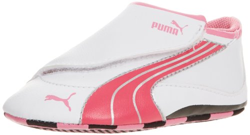 PUMA Drift Cat 4 Low Crib Crib Shoe (Infant/Toddler),White/Virtual Pink/Sachet,4 M US Toddler