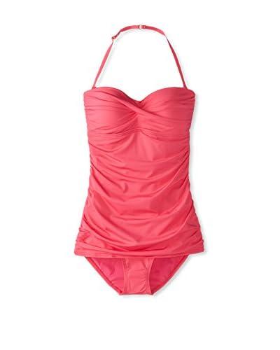 Jantzen Women's Solid Vamp Once-Piece Swimsuit