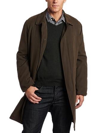 London Fog伦敦雾男士单排扣防水长风衣Durham Single-Breasted $58.45