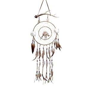 Antler Windcatcher Dream Wind Catcher Leather Feathers