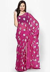 Prateek Retail Ethnic Maroon traditional print Chiffon saree