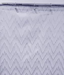 96 Extra Long Flamestitch Fabric Shower Curtain White Home Kitchen