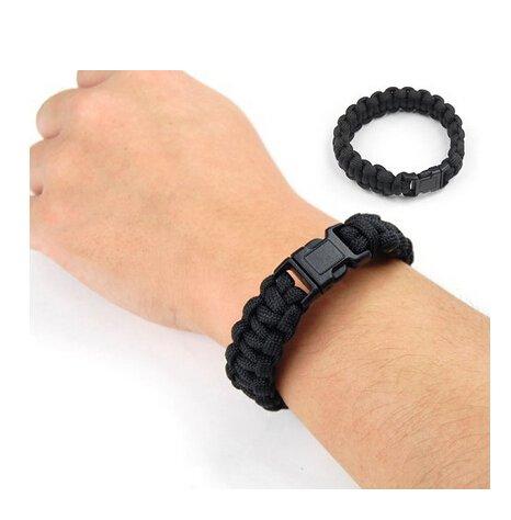 Bracelet-de-survie-pour-le-camping-Noir-7-cm