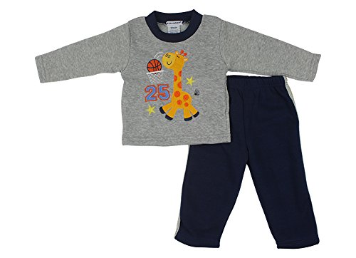 Alfa Global Baby-Boys Infant Two-Piece Fleece Set Grey 2 Years front-593929