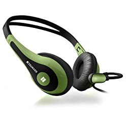 Soyntec NETSOUND 500 Green - Auriculares con micrófono tipo diadema, color negro y verde