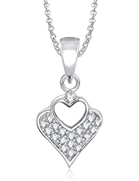 MEENAZ LOVE PENDANT HEART SHAPE BEAUTIFUL LOCKET FOR GIRLS AND WOMEN VALENTINE WITH CHAIN PS314