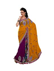 Triveni Fancy Saree Full Of Butta Border Colors 48018