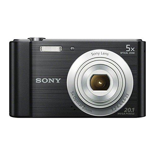 Sony DSCW800 Compact Digital Camera - Black (20.1 MP, 5x Optical Zoom)